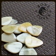Bone Tones - White Horn - 1 Guitar Pick | Timber Tones
